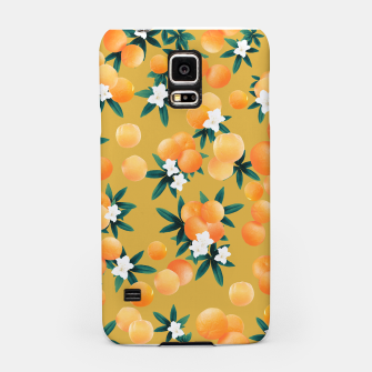 Miniatur Orange Twist Flower Vibes #5 #tropical #fruit #decor #art Handyhülle für Samsung, Live Heroes