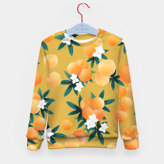 Miniaturka Orange Twist Flower Vibes #5 #tropical #fruit #decor #art Kindersweatshirt, Live Heroes