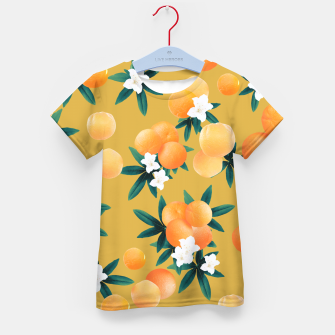 Miniatur Orange Twist Flower Vibes #5 #tropical #fruit #decor #art T-Shirt für kinder, Live Heroes