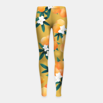 Imagen en miniatura de Orange Twist Flower Vibes #5 #tropical #fruit #decor #art Kinder-Leggins, Live Heroes