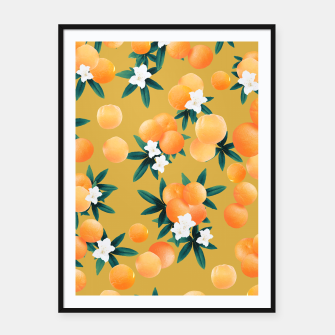 Miniaturka Orange Twist Flower Vibes #5 #tropical #fruit #decor #art Plakat mit rahmen, Live Heroes