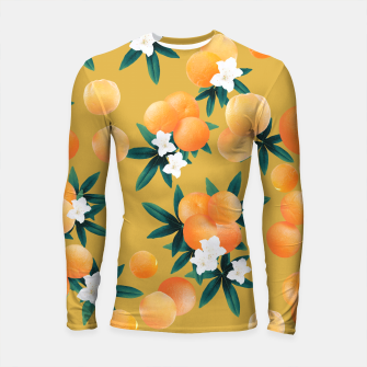Miniaturka Orange Twist Flower Vibes #5 #tropical #fruit #decor #art Longsleeve rashguard, Live Heroes