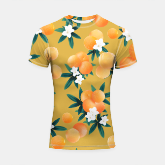 Miniaturka Orange Twist Flower Vibes #5 #tropical #fruit #decor #art Shortsleeve rashguard, Live Heroes