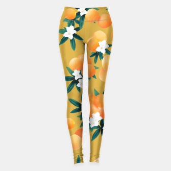 Thumbnail image of Orange Twist Flower Vibes #5 #tropical #fruit #decor #art Leggings, Live Heroes