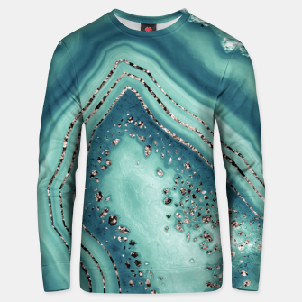 Thumbnail image of Teal Agate Rose Gold Glitter Glam #2 #gem #decor #art Unisex sweatshirt, Live Heroes