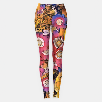 Thumbnail image of flowers and leaves Legginsy, Live Heroes