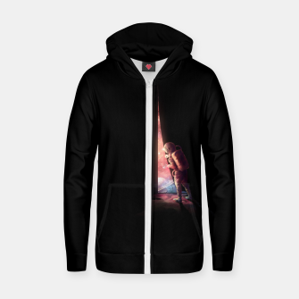 Thumbnail image of The Opening Zip up hoodie, Live Heroes