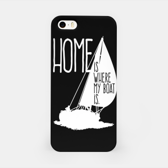 Home Is Where My Boat Is iPhone-Hülle thumbnail image