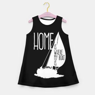 Home Is Where My Boat Is Mädchen-Sommerkleid thumbnail image