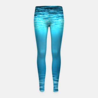 Thumbnail image of Underwater scene Girl's leggings, Live Heroes