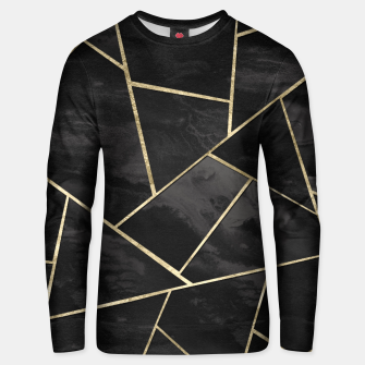 Thumbnail image of Dark Black Ink Gold Geometric Glam #1 #geo #decor #art Unisex sweatshirt, Live Heroes