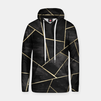 Thumbnail image of Dark Black Ink Gold Geometric Glam #1 #geo #decor #art Kapuzenpullover, Live Heroes