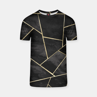 Thumbnail image of Dark Black Ink Gold Geometric Glam #1 #geo #decor #art T-Shirt, Live Heroes