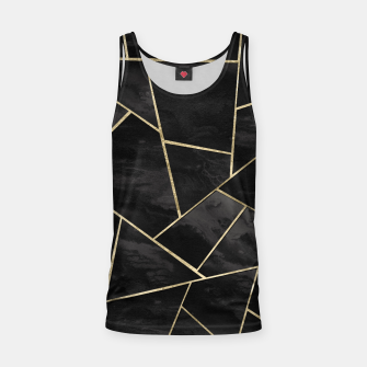 Thumbnail image of Dark Black Ink Gold Geometric Glam #1 #geo #decor #art Muskelshirt , Live Heroes