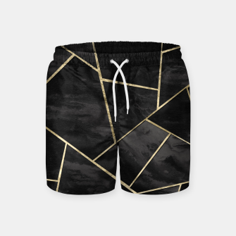 Thumbnail image of Dark Black Ink Gold Geometric Glam #1 #geo #decor #art Badeshorts, Live Heroes