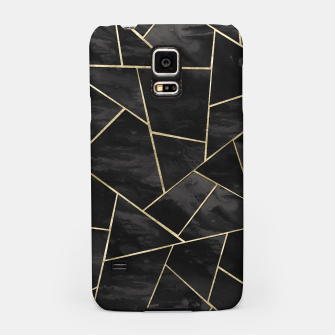 Miniatur Dark Black Ink Gold Geometric Glam #1 #geo #decor #art Handyhülle für Samsung, Live Heroes