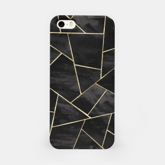 Thumbnail image of Dark Black Ink Gold Geometric Glam #1 #geo #decor #art iPhone-Hülle, Live Heroes