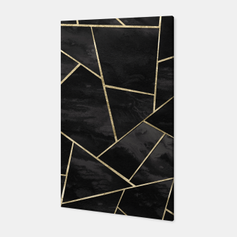 Thumbnail image of Dark Black Ink Gold Geometric Glam #1 #geo #decor #art Canvas, Live Heroes