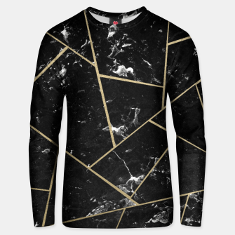 Black Marble Gold Geometric Glam #1 #geo #decor #art Unisex sweatshirt thumbnail image