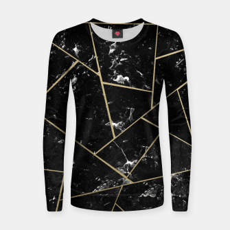 Black Marble Gold Geometric Glam #1 #geo #decor #art Frauen sweatshirt thumbnail image
