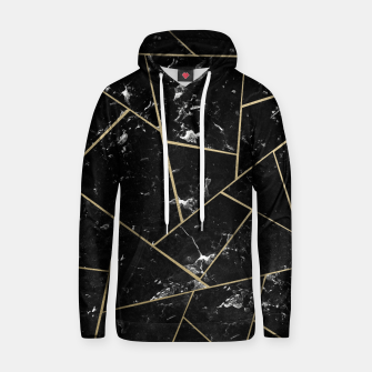 Black Marble Gold Geometric Glam #1 #geo #decor #art Kapuzenpullover thumbnail image