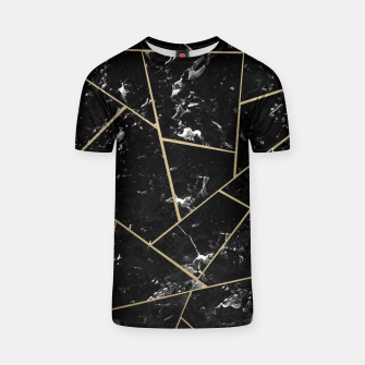Black Marble Gold Geometric Glam #1 #geo #decor #art T-Shirt thumbnail image