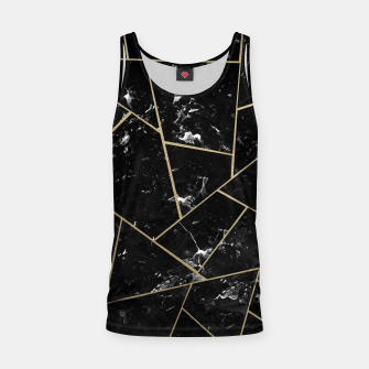 Black Marble Gold Geometric Glam #1 #geo #decor #art Muskelshirt  thumbnail image