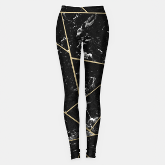 Thumbnail image of Black Marble Gold Geometric Glam #1 #geo #decor #art Leggings, Live Heroes