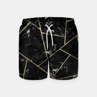 Black Marble Gold Geometric Glam #1 #geo #decor #art Badeshorts thumbnail image