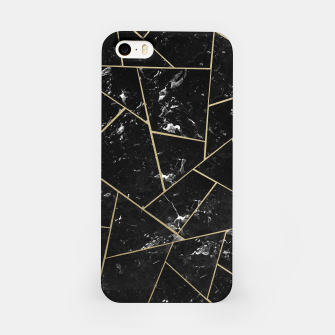Black Marble Gold Geometric Glam #1 #geo #decor #art iPhone-Hülle thumbnail image