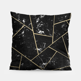 Black Marble Gold Geometric Glam #1 #geo #decor #art Kissen thumbnail image