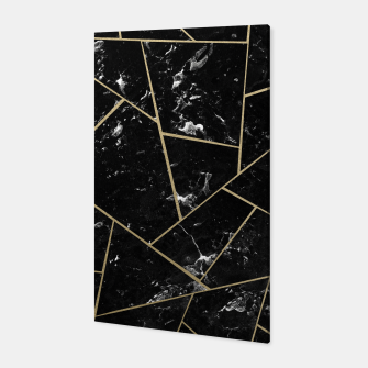 Black Marble Gold Geometric Glam #1 #geo #decor #art Canvas thumbnail image