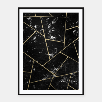 Black Marble Gold Geometric Glam #1 #geo #decor #art Plakat mit rahmen thumbnail image