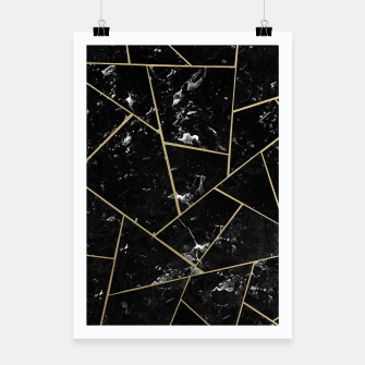Black Marble Gold Geometric Glam #1 #geo #decor #art Plakat thumbnail image