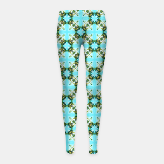 Thumbnail image of Blue Sky Morocco Girl's leggings, Live Heroes