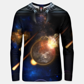 Thumbnail image of Asteroid Apocalypse Fractal Art Spacescape Unisex sweater, Live Heroes