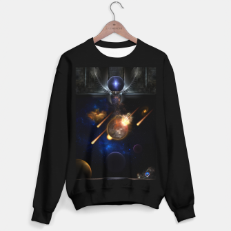 Miniaturka Asteroid Apocalypse Fractal Art Spacescape Sweater regular, Live Heroes