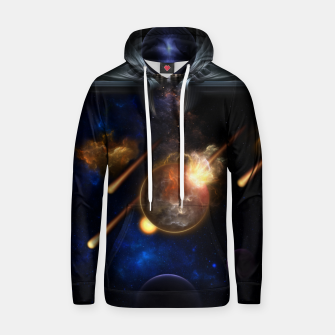 Thumbnail image of Asteroid Apocalypse Fractal Art Spacescape Hoodie, Live Heroes
