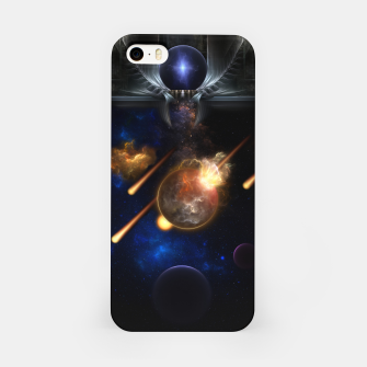 Thumbnail image of Asteroid Apocalypse Fractal Art Spacescape iPhone Case, Live Heroes