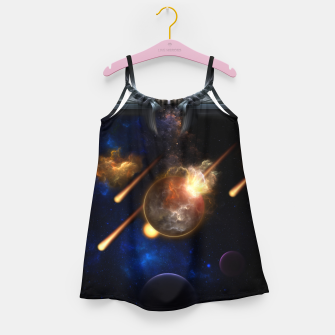 Miniaturka Asteroid Apocalypse Fractal Art Spacescape Girl's dress, Live Heroes