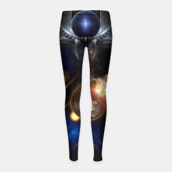 Thumbnail image of Asteroid Apocalypse Fractal Art Spacescape Girl's leggings, Live Heroes