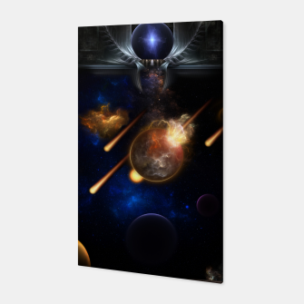 Thumbnail image of Asteroid Apocalypse Fractal Art Spacescape Canvas, Live Heroes