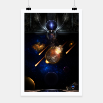 Thumbnail image of Asteroid Apocalypse Fractal Art Spacescape Poster, Live Heroes