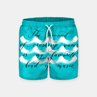 The Sound of Crashing Waves Swim Shorts thumbnail image