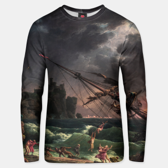 The Shipwreck by Laude Joseph Vernet Unisex sweater thumbnail image