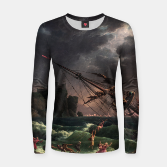 Miniaturka The Shipwreck by Laude Joseph Vernet Women sweater, Live Heroes