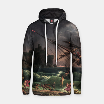 The Shipwreck by Laude Joseph Vernet Hoodie thumbnail image