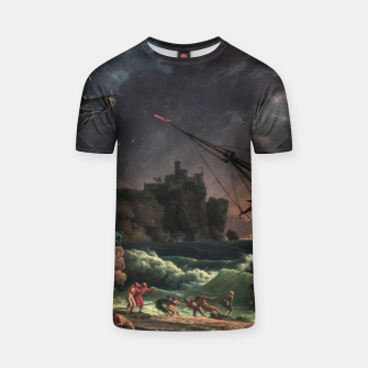 The Shipwreck by Laude Joseph Vernet T-shirt thumbnail image