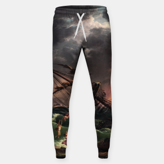 The Shipwreck by Laude Joseph Vernet Sweatpants thumbnail image