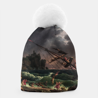 The Shipwreck by Laude Joseph Vernet Beanie thumbnail image